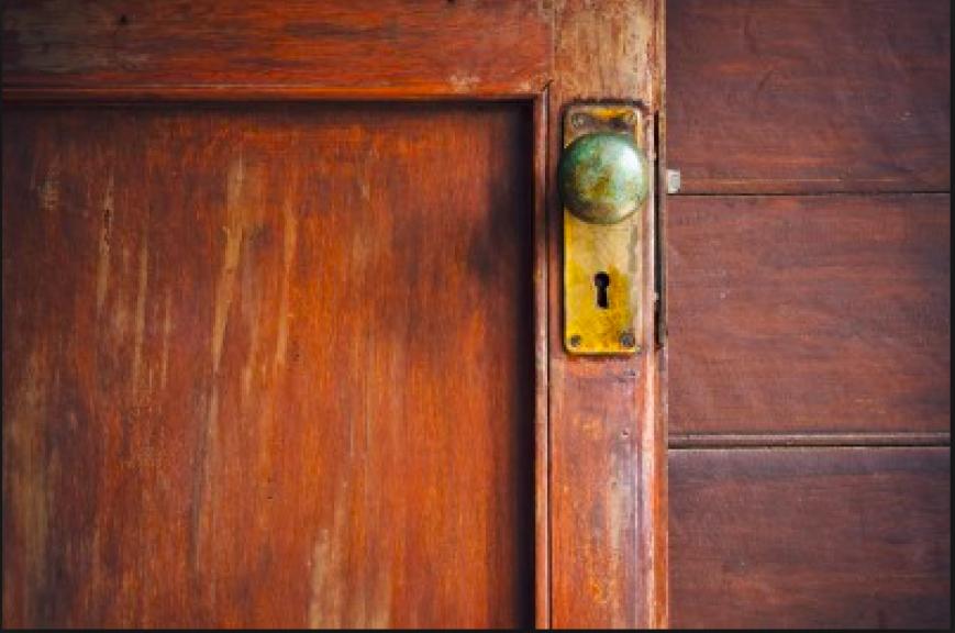 An old door knob.