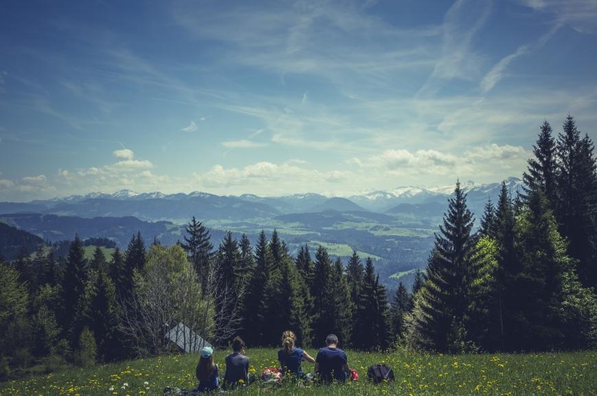 A gorgeous mountain view.