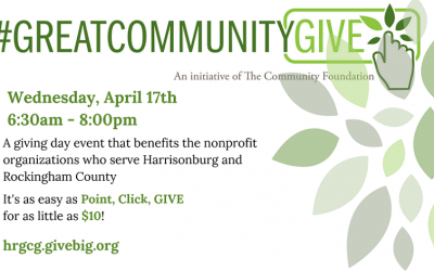 Great Community Give – Next Wednesday, April 17!